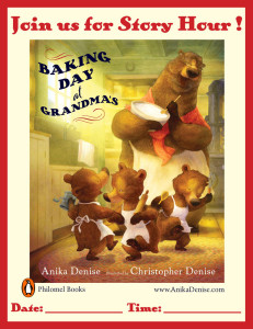 Baking Day at Grandma's Story Hour Poster 2