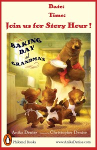 Baking Day at Grandma's - Story Hour Poster